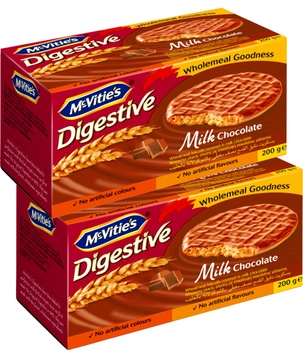 McVities Digestive Milk Chocolate 2 x 200g