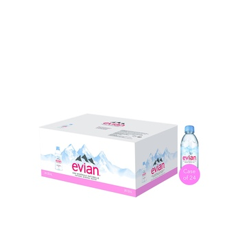 Evian Prestige Natural Mineral Water 24 x 330ml