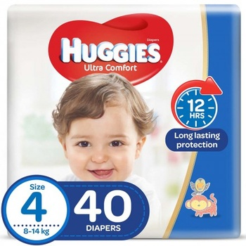 Huggies Ultra Comfort Diapers Economy Pack Size 4 40 pcs @ 20% Off