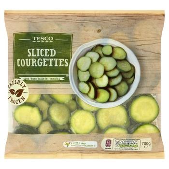 Tesco Sliced Courgettes 700g