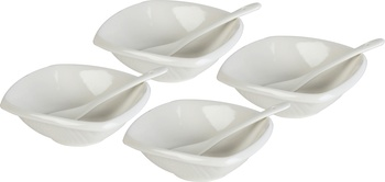Serving Bowl 4 pcs with Spoon-1804-161