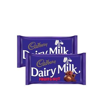 Cadbury Dairy Milk Fruit & Nut 230g Pack of 2