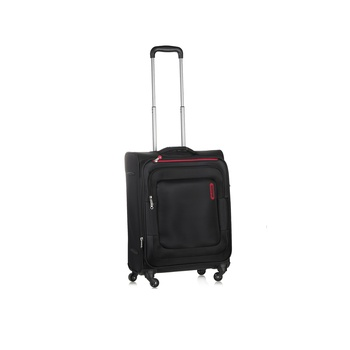 American Tourister Soft Luggage 4  Wheels Trolley Set -Bricklane 55 Cm Black Spinner