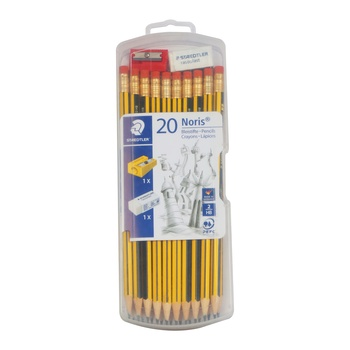 Staedler Noris Pencil 20 pack + Eraser+ Sharpener