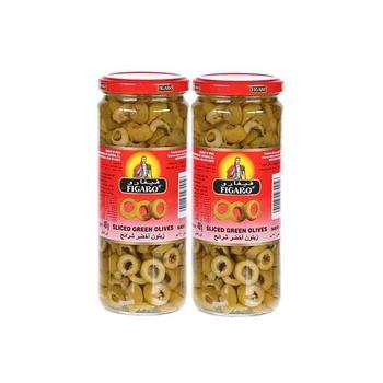 Figaro Sliced Green Olive 230g Pack of 2