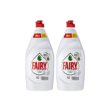 Fairy Original Dishwashing Liquid 750ml Pack Of 2