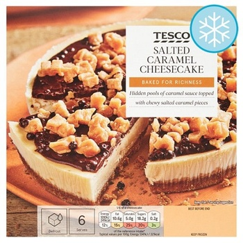 Tesco Salted Caramel Cheesecake 450g