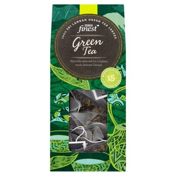 Tesco Finest Green Tea Pyramid Bags 15s 30g