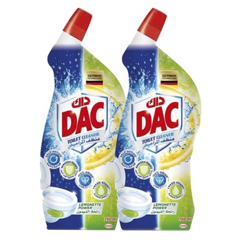 Dac Toilet Cleaner Lemon Power Twin Pack 750ml