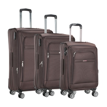 Voyager Trolley Bag 3P Set Brown
