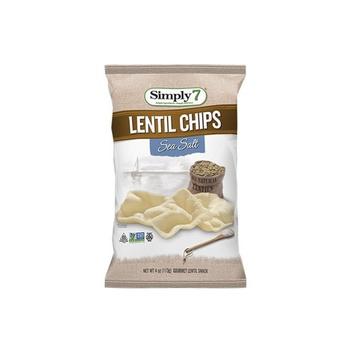 Simply7 Chips Lentil Sea Salt 3.65Oz