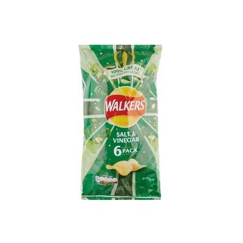 Walker Salt&Vinegar 6 Pck  25g