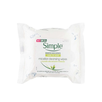 Simple KIND TO SKIN Miscellar Cleansing Wipes 25 Counts
