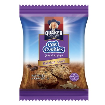 Quaker Oats Cookies Raisin 9g
