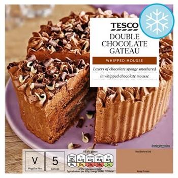 Tesco Double Chocolate Gateau 350g