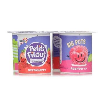 Yoplait Petits Filous Raspberry & Strawberry 4x85gs