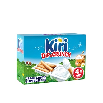 Kiri Dip & Crunch Cream Cheese and Breadstick Snack 4 Pieces 140g
