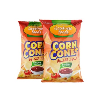 Goodness Foods Corn Cones Ketchup 2X90Gms