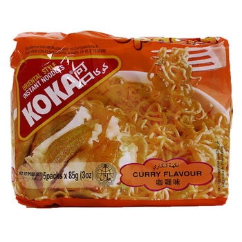 Koka Curry Flavour Noodles 5 X 85g