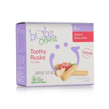 Organic Bubs Apple & Barley Malt toothy Rusks 100g