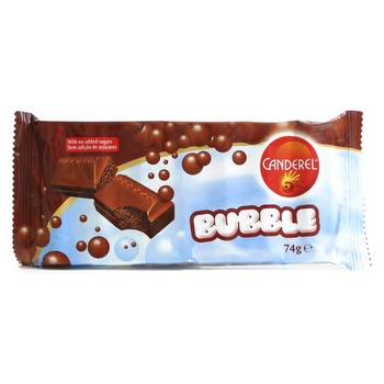 Canderel Bubble Chocolate Bar 74g