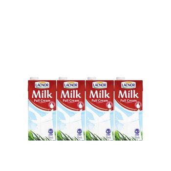 Lacnor Milk Full Cream Milk 4 x1ltr