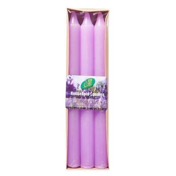 Samar Taper Candle 6Pc Purple-Lavender