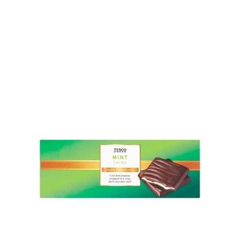 Tesco Chocolate Mint Thins 200g