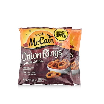 McCain Onion Rings 400g Pack of 2