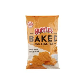 Ruffles Baked Cheddar Sour Cream 6Oz