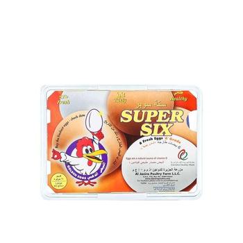 Al Jazira Super 6 Fresh Egg Brown/White 1 X 6pcs