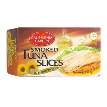 California Garden Smoked Tuna Slice In Sunflower Oil 120g