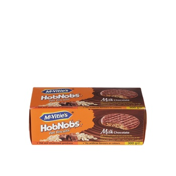 Mcvities Hob Nobs Milk Chocolate 300g