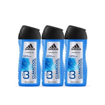 Adidas Climacool 3In1 Body, Hair And Face Shower Gel For Him 250ml Pack Of 3