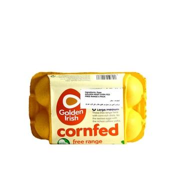 Golden Irish Corn Fed Free Range Large/Medium 6 Pack Eggs