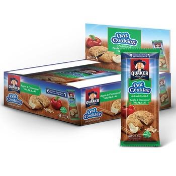 Quaker Cookies Apple & Cinnamon 9X54g