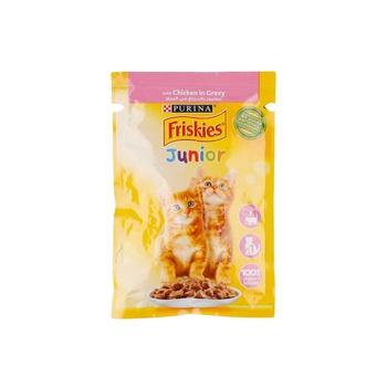 Friskies Junior Cat Chicken Chunks in Gravy Pouch 85G