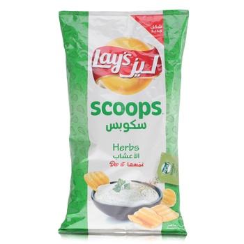 Lays Scoop Herbs Potato Chips 165g