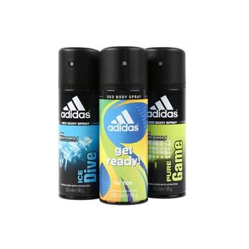 Adidas Assorted Body Spray 3 x 150ml (2+1 Free)
