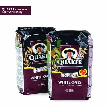 Quaker Oat Alu-Foil Bags Twin Pk 500g