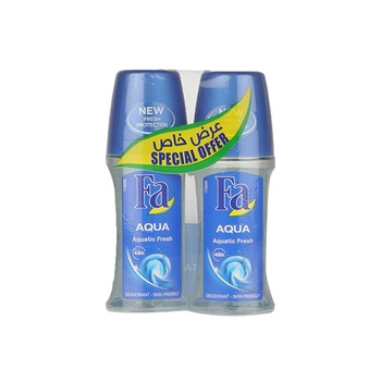 FA Sport Energizing Fresh Roll On Deodorant for Men - 2 x 50ml @ Special Price