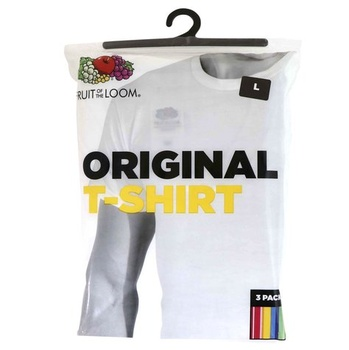 Fruit of the Loom C-Neck T Shirt 3 pcs pack - XL