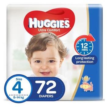Huggies Ultra Comfort Diapers Jumbo Pack Size 4 72 pcs @ 20% Off