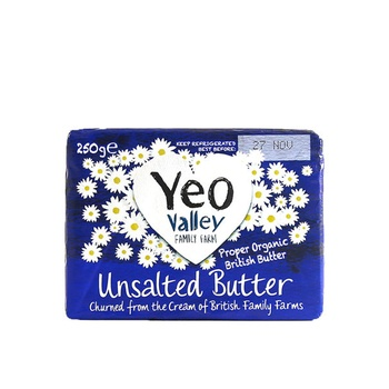 Yeo Valley Unsalted Butter 250g