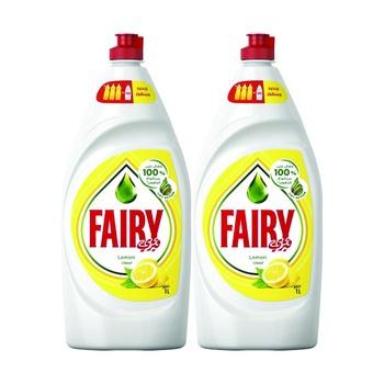 Fairy Dishwashing Liquid Lemon 2 x 1ltr @ 25% Off