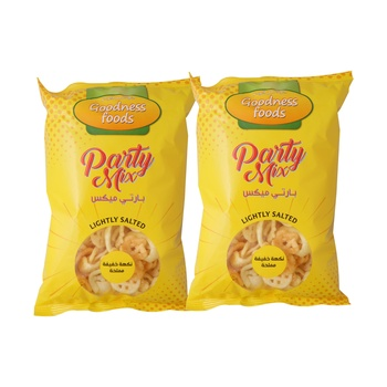 Goodness Food Party Mix Ligthly Salted 65g Twin Pack