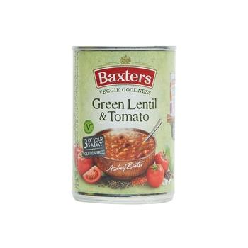 Baxters green lentil & tomato soup 400g