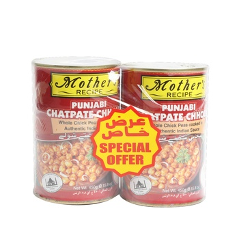 Mothers Recipe Punjabi Chatpate Choley 2 x 450 gms @ Special Price