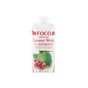 Foco UHT Coconut Water with Pomegranate 330ml