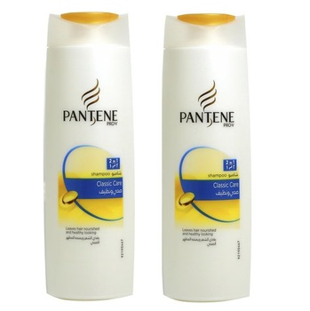 Pantene pro-v classic clean shampoo 400ml pack of 2